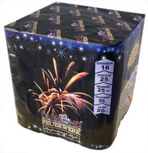 Blue Diamonds Feuerwerks batterie